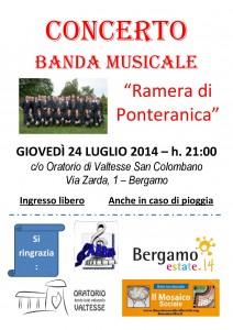 Ill Mosaico Sociale - Locandina Banda Ponteranica 24_07_2014